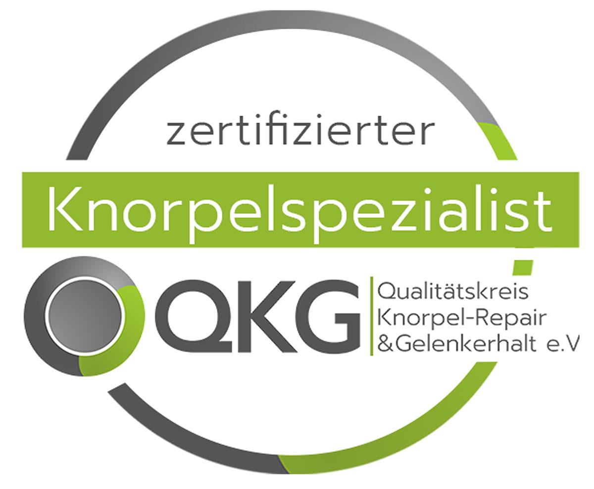 Logo QKG zertifizierter Knorpelspezialist