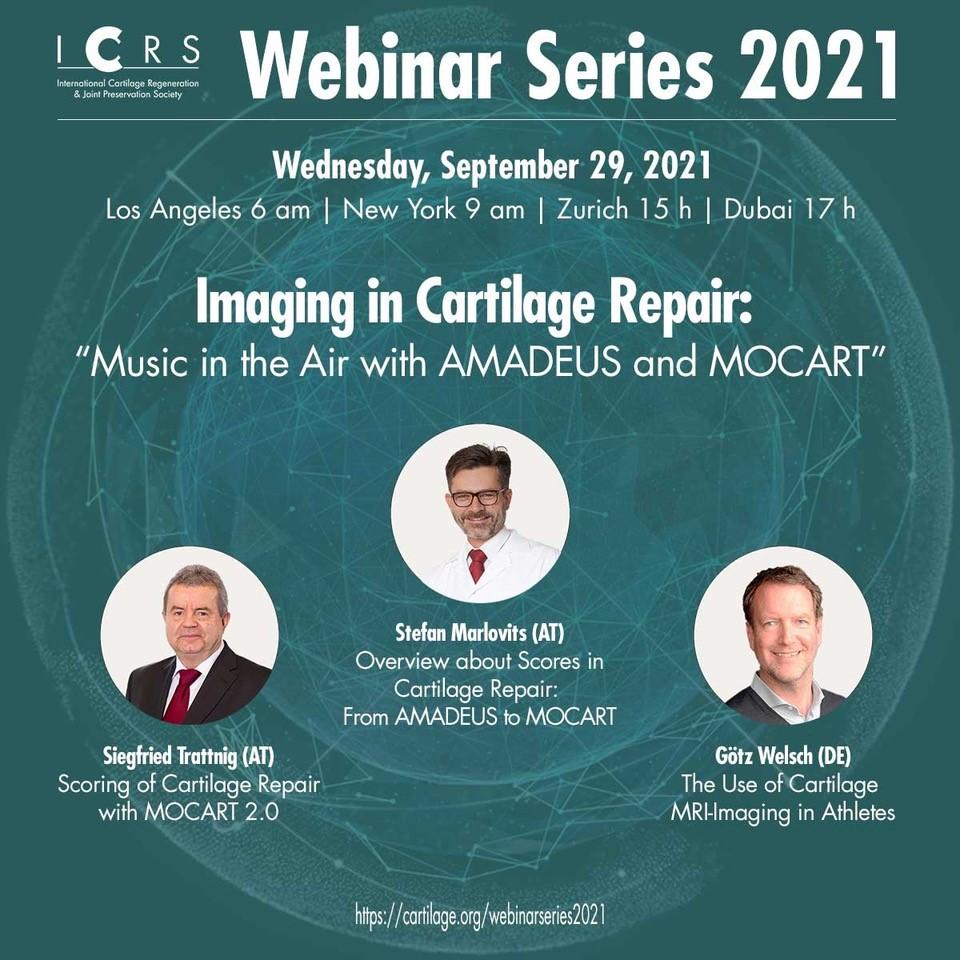 Poster Webinar Imaging in Cartilage Repair