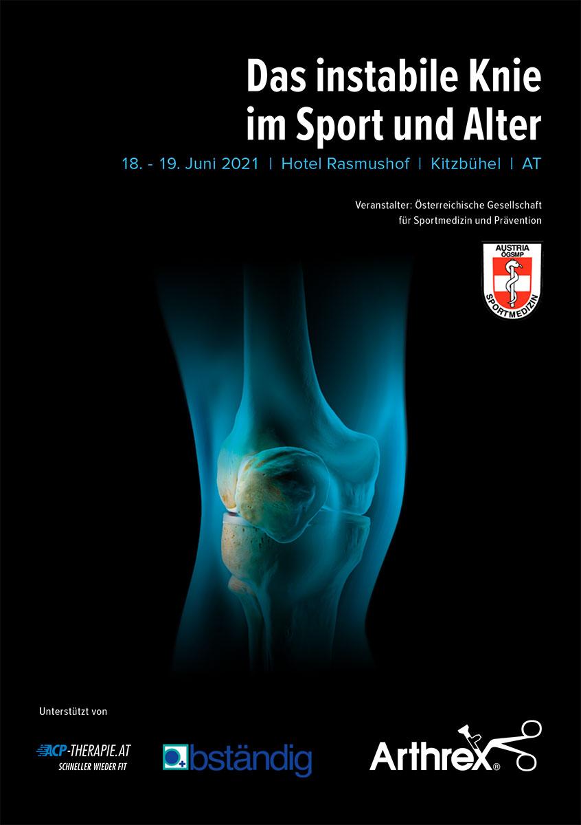 Poster Symposium Das instabile Knie im Sport und Alter